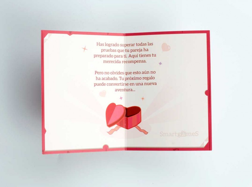 Tarjeta de Felicitación abierta - Pack InLove I